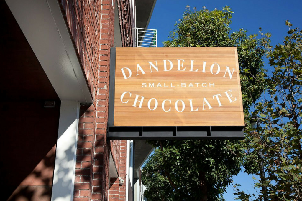 Dandelion Chocolate Factory Sign by Molly DeCoudreaux