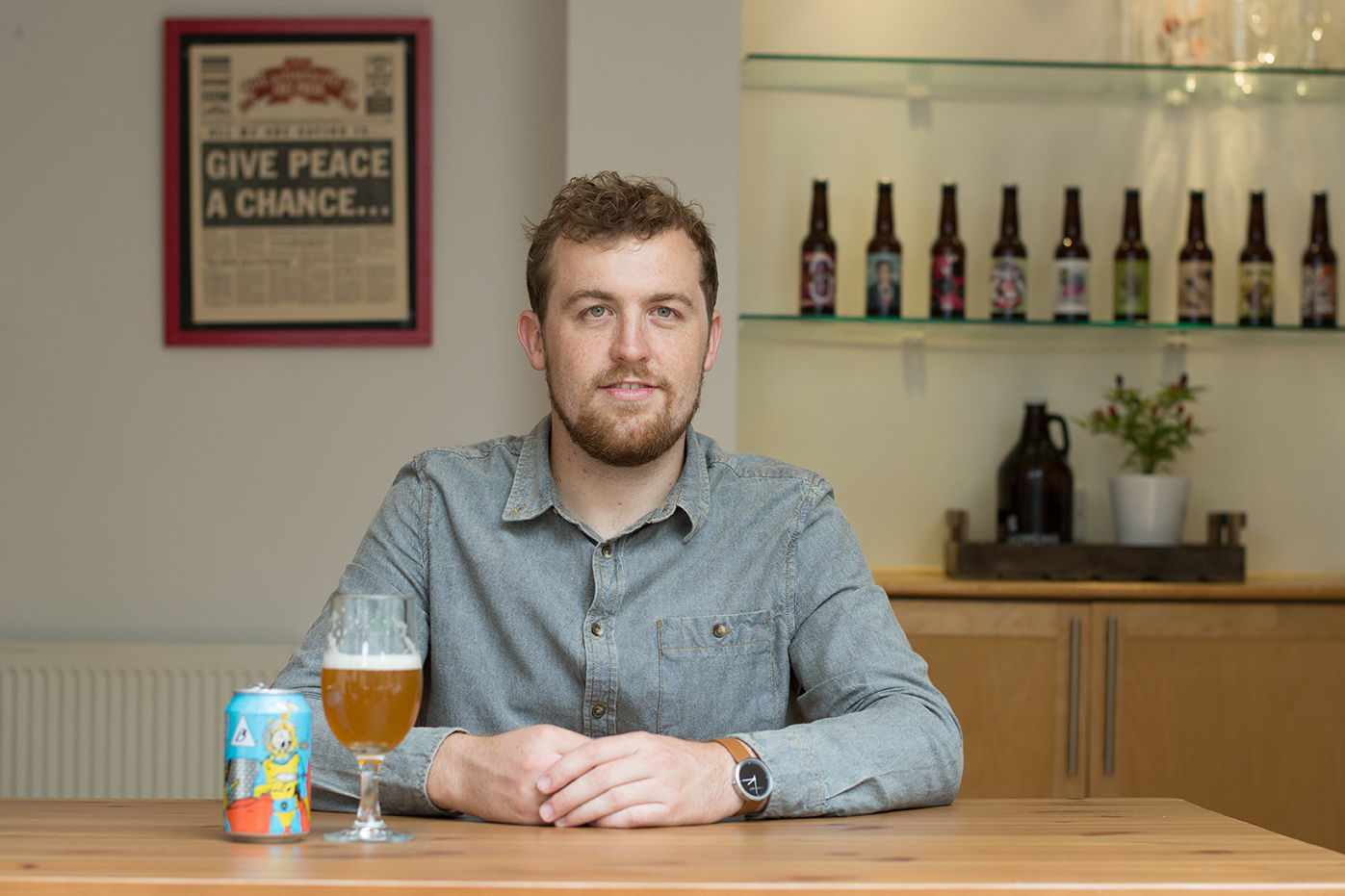 Andrew Reeve, purveyor of fine craft beers