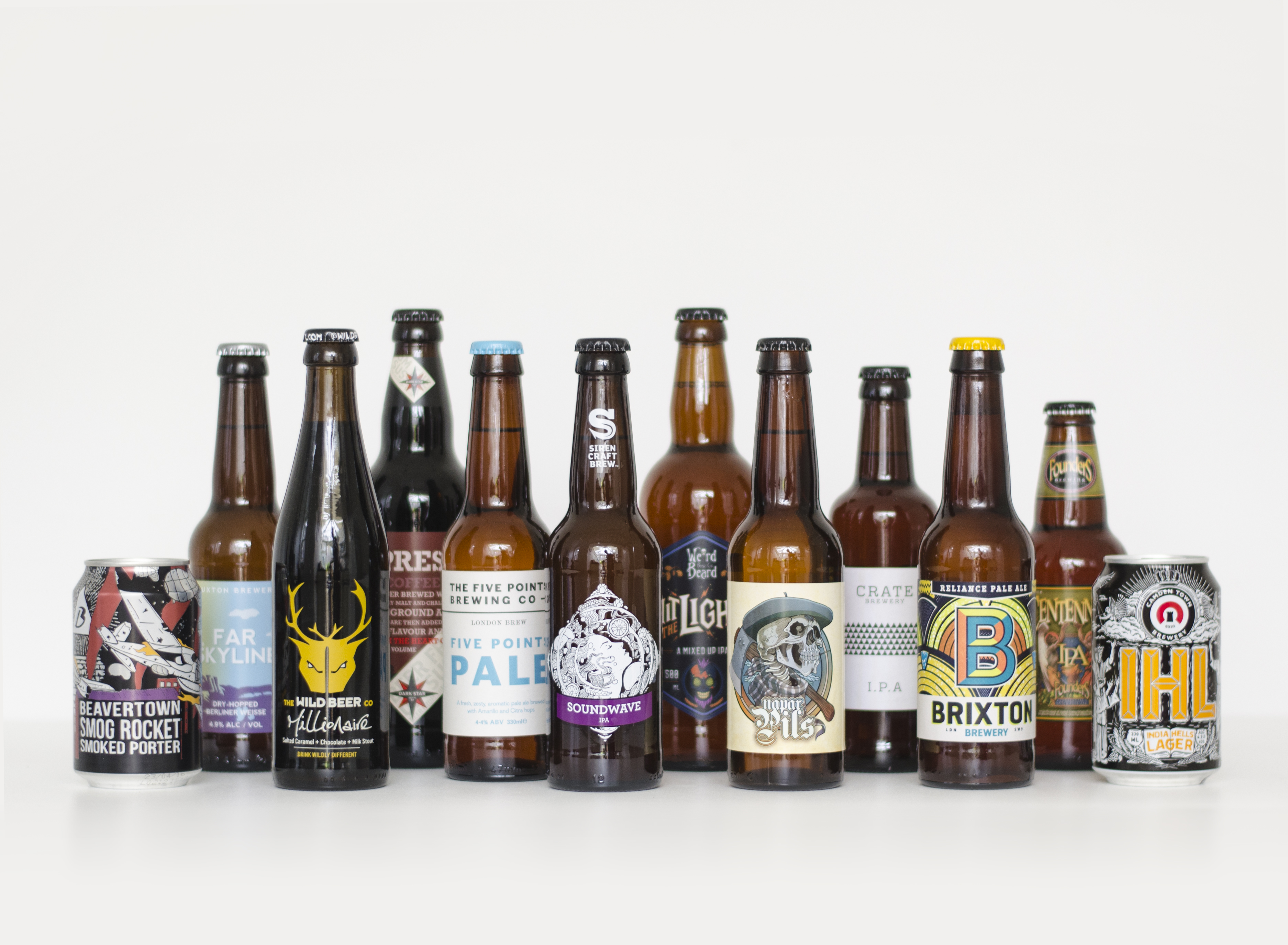 A selection of craft beer