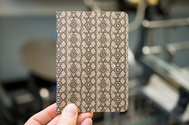 custom notebook geometric design