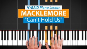 HDPiano hands at piano keys