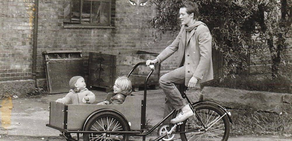 Old picture of first Christiania bike