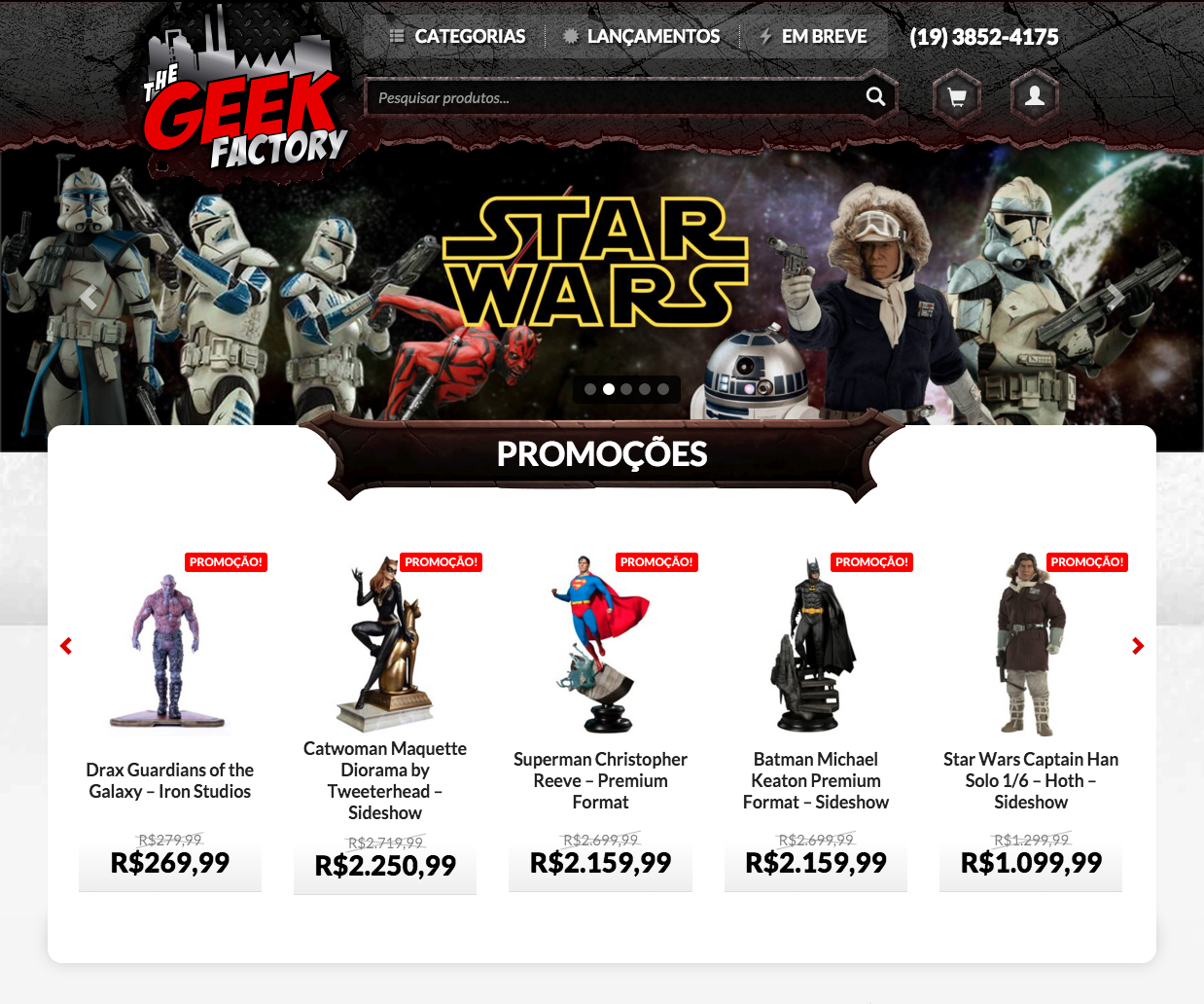 The Geek Factory website designed with WooCommerce